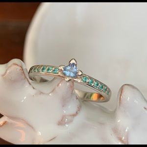 Princess Gemstone With Accents Ring - NWOT